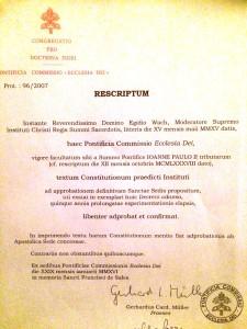 DOCUMENTO APROBACION CONSTITUCIONES ICRSS